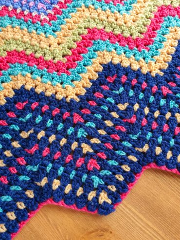 Block stitch ripple crochet pattern