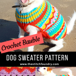 Christmas Bauble Dog sweater pattern crochet