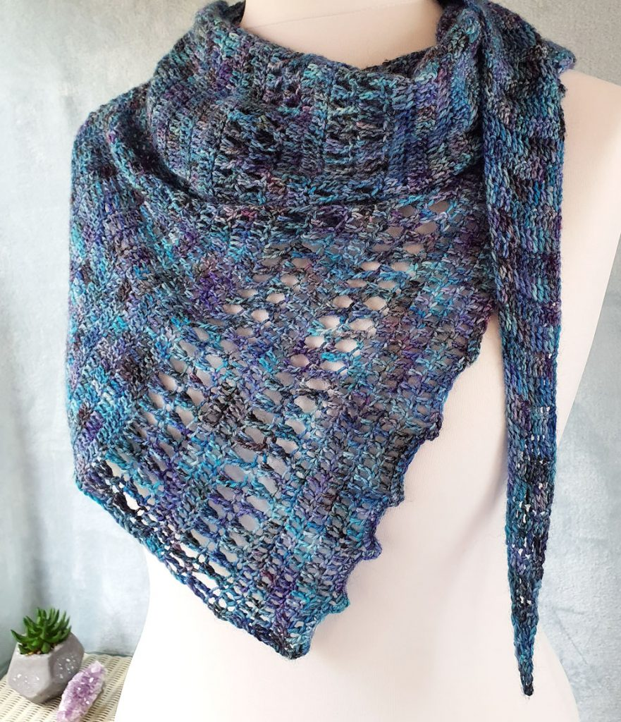 free one skein shawl crochet pattern