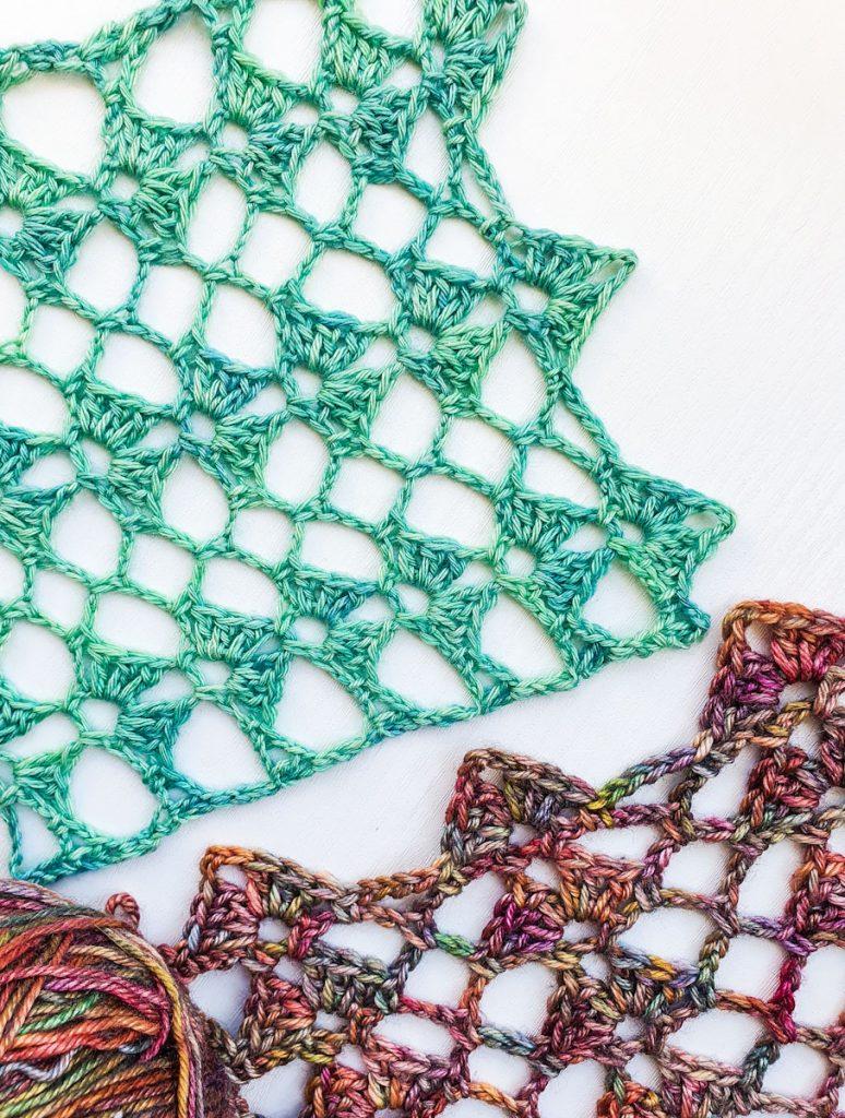 Free easy crochet cowl pattern swatch