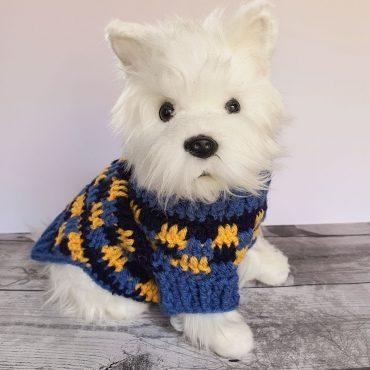 Cute crochet dog sweater pattern