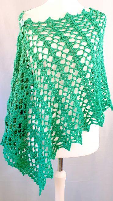Crochet wrap rectangle shawl pattern