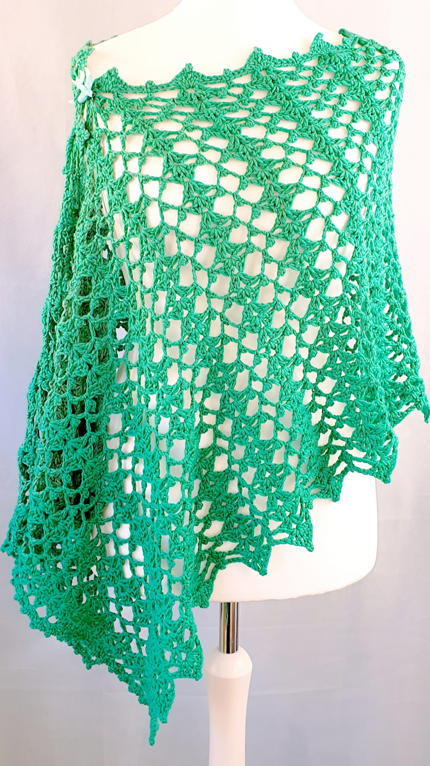 Crochet wrap rectangle shawl pattern