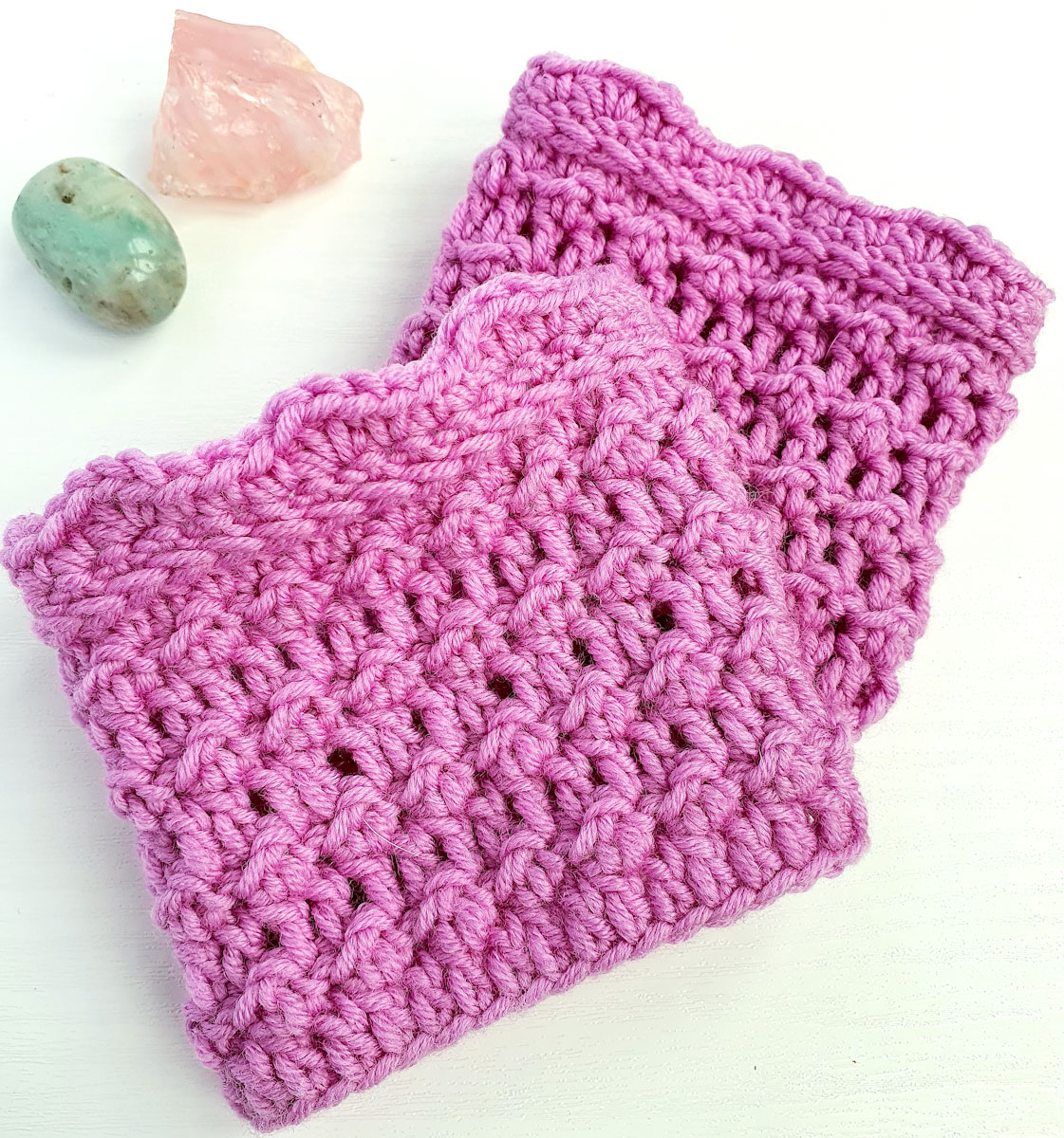 Free Calming Crochet Wrist Warmers Pattern