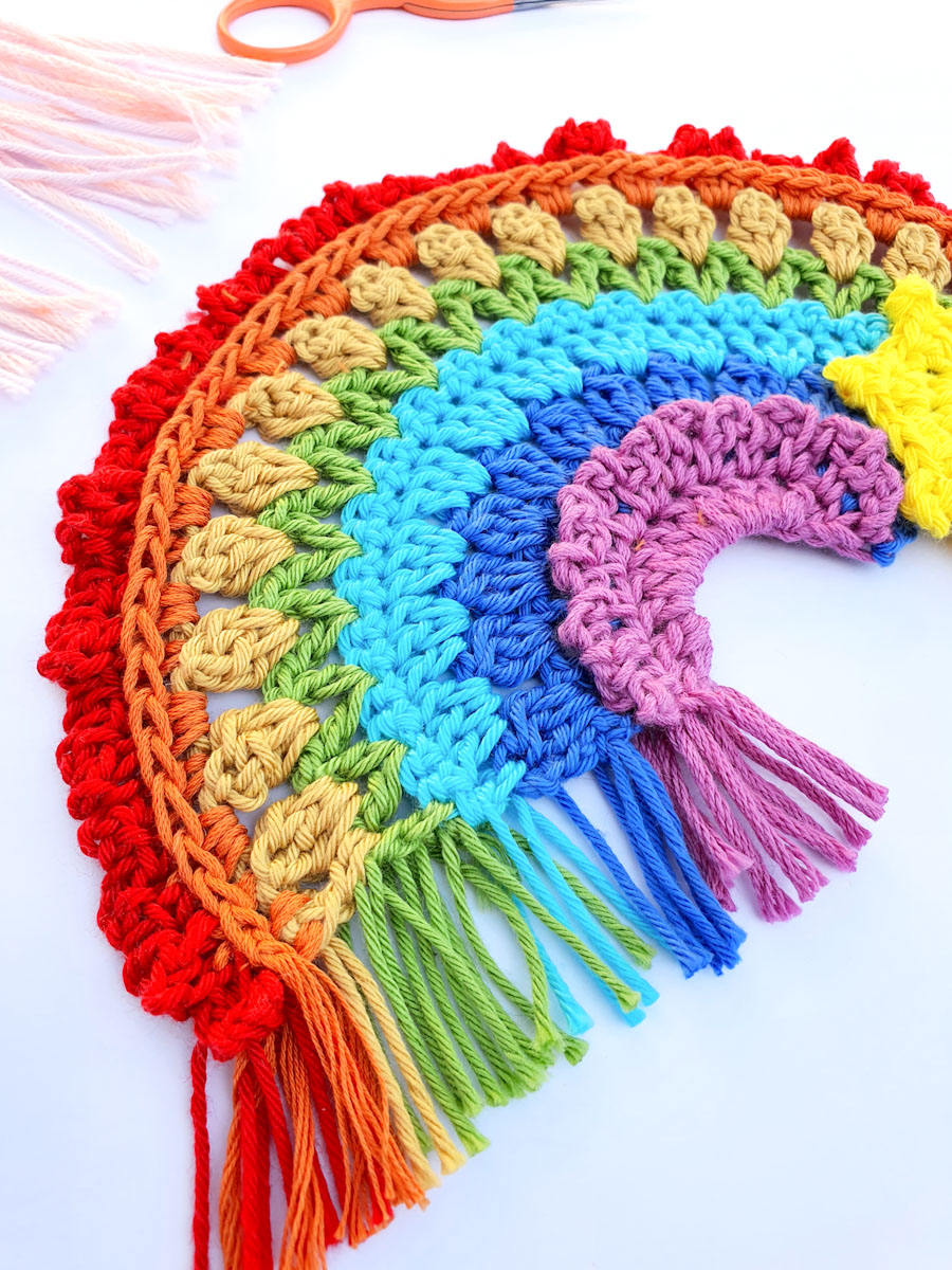 Crochet Rainbow Free Pattern
