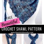 Free crochet shawl patterns one skein