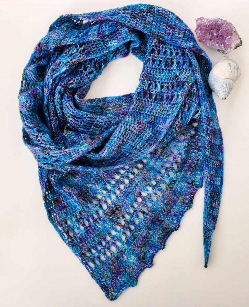 free one skein shawl scarf crochet