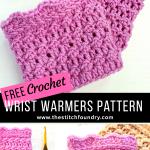 Pin crochet wrist warmers free pattern