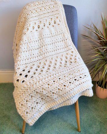 Free crochet sampler blanket pattern